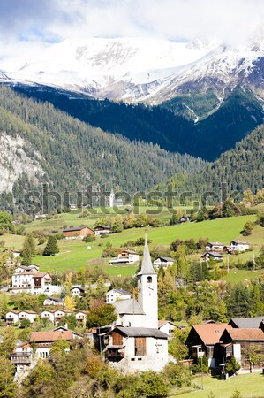 Filisur, canton Graubunden, Switzerland Stock photo © phbcz