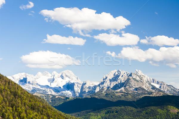 view to Dachstein from the west, Upper Austria-Styria, Austria Stock photo © phbcz