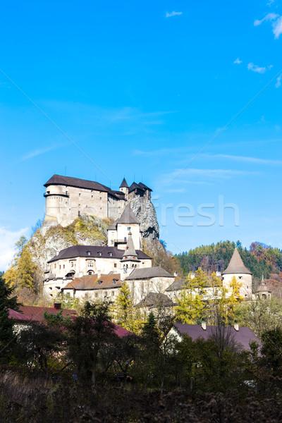 Kale Slovakya seyahat mimari Avrupa tarih Stok fotoğraf © phbcz