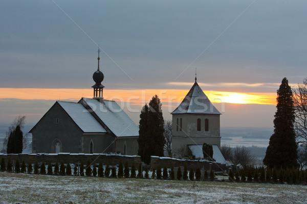 église République tchèque hiver bâtiments architecture extérieur Photo stock © phbcz