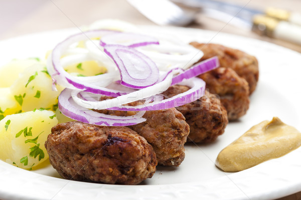 fritters of minced meat Stock photo © phbcz