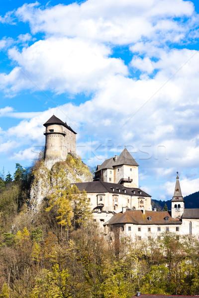 Kasteel Slowakije reizen najaar architectuur Europa Stockfoto © phbcz