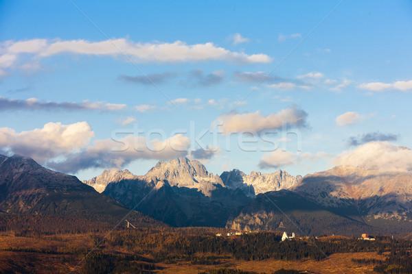 Montanha ocidental alto Eslováquia paisagem europa Foto stock © phbcz