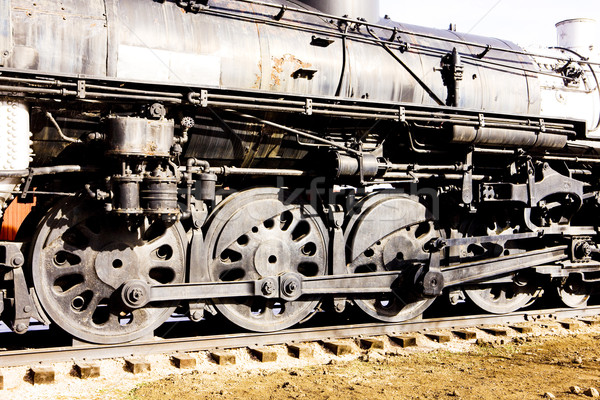 Detail stoomlocomotief Colorado spoorweg museum USA Stockfoto © phbcz