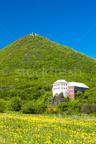 Stock photo: Milesov Palace and observatory on Milesovka, Ceske stredohori, C