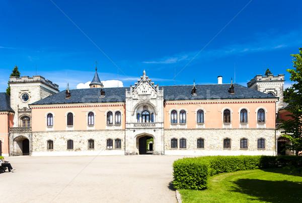 Palacio República Checa edificio viaje arquitectura Europa Foto stock © phbcz