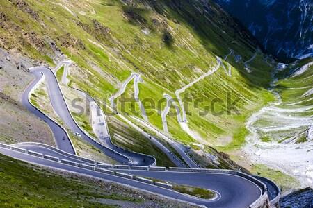 road at Passo dello Stelvio, Alto Adige, Italy Stock photo © phbcz