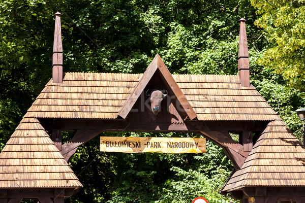 Kapu park Lengyelország utazás építészet kint Stock fotó © phbcz
