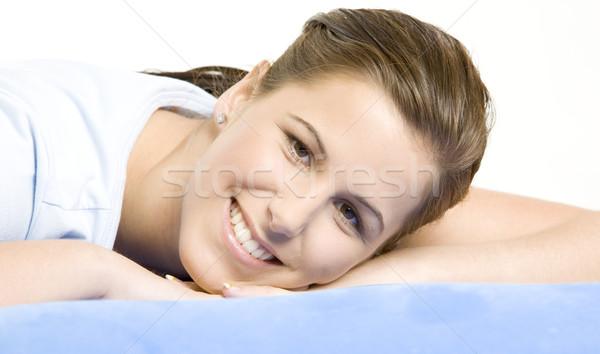 portrait of lying down woman Stock photo © phbcz