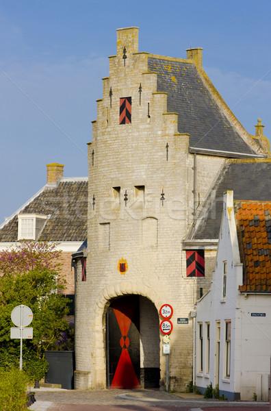 Нидерланды дома здании архитектура ворот города Сток-фото © phbcz