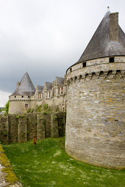 Chateau de Rohan, Pontivy, Brittany, France Stock photo © phbcz