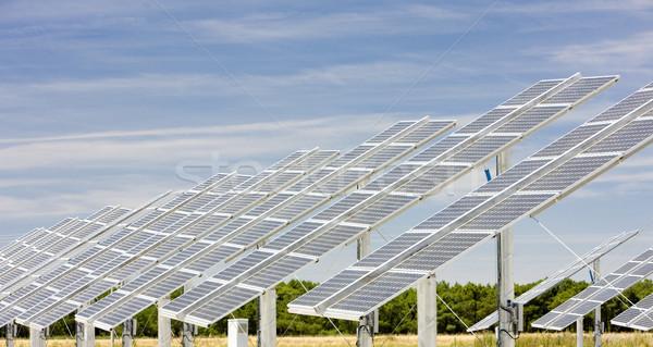 solar panels, Castile and Leon, Spain Stock photo © phbcz