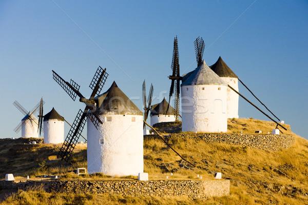 windmills, Consuegra, Castile-La Mancha, Spain Stock photo © phbcz