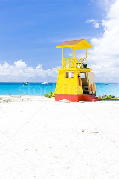 キャビン ビーチ バルバドス カリビアン 海 ストックフォト © phbcz