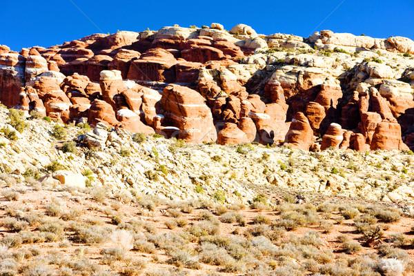 Parque Utah EUA paisaje rocas silencio Foto stock © phbcz