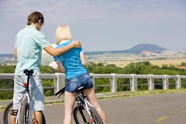bikers holding a map, Czech Republic Stock photo © phbcz