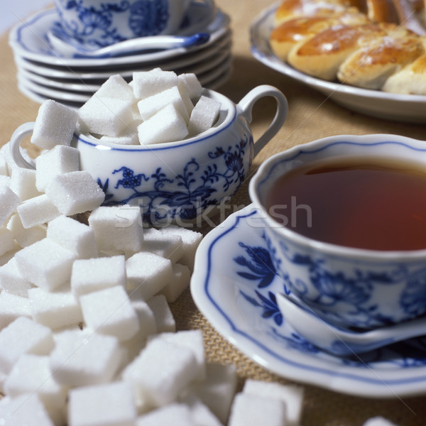 tea set with pastry Stock photo © phbcz