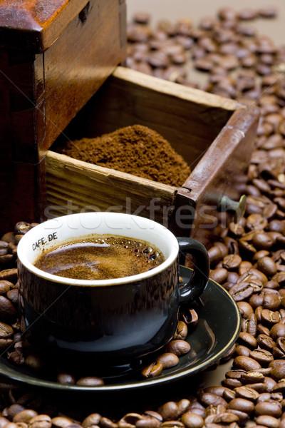 詳細 コーヒー ミル コーヒー豆 カップ ドリンク ストックフォト © phbcz