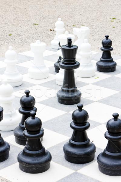 chess, Bingen am Rhein, Rhineland-Palatinate, Germany Stock photo © phbcz