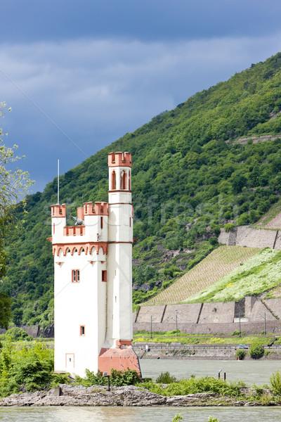Binger Maeuseturm, Mouse Tower on Mouse Island, Rhineland-Palati Stock photo © phbcz
