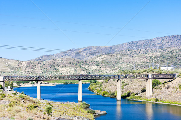 railway viaduct in Pocinho, Douro Valley, Portugal Stock photo © phbcz