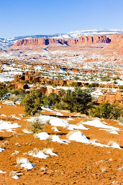Parc Utah USA nature neige hiver Photo stock © phbcz
