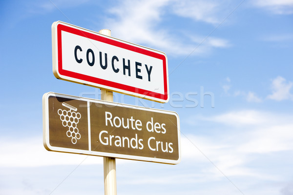 Stock photo: wine route, Couchey, Burgundy, France