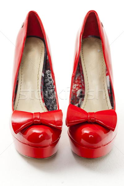 Moda kırmızı ayakkabı stil nesne Stok fotoğraf © phbcz