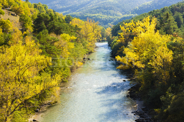 valley of river Verdon in autumn, Provence, France Stock photo © phbcz