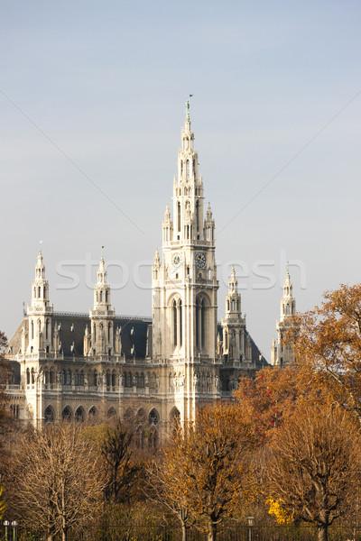 Ville salle Vienne Autriche bâtiment Voyage Photo stock © phbcz