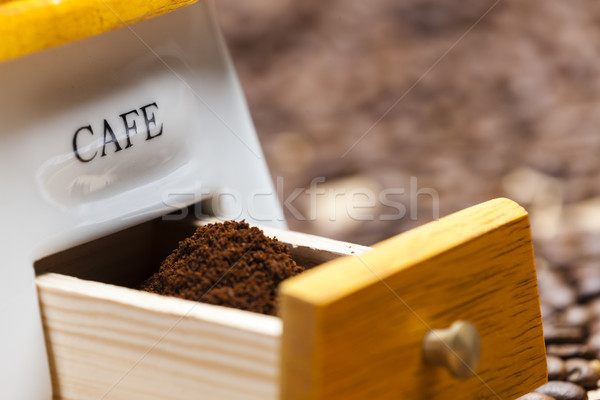 detail of coffee mill Stock photo © phbcz