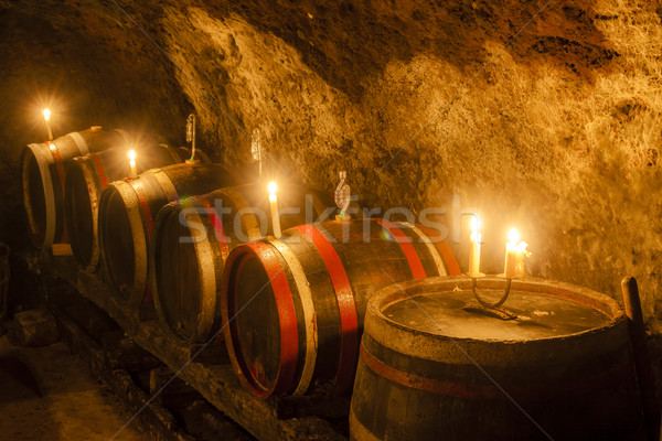 Stock photo: wine cellar in Velka Trna, Tokaj wine region, Slovakia