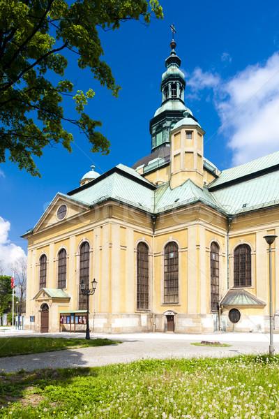 The Church of the exaltation of the Holy Cross, Jelenia Gora, Si Stock photo © phbcz