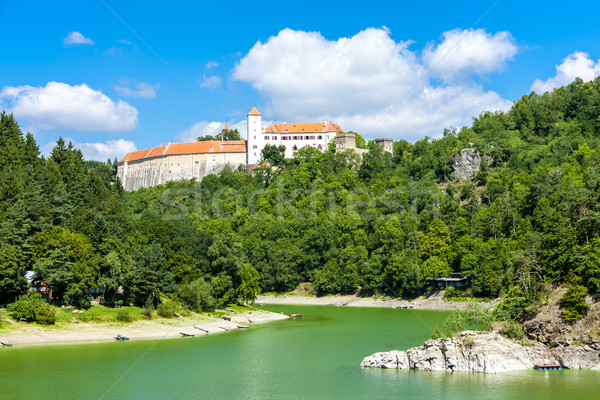 Bitov Castle with Vranovska Dam, Czech Republic Stock photo © phbcz