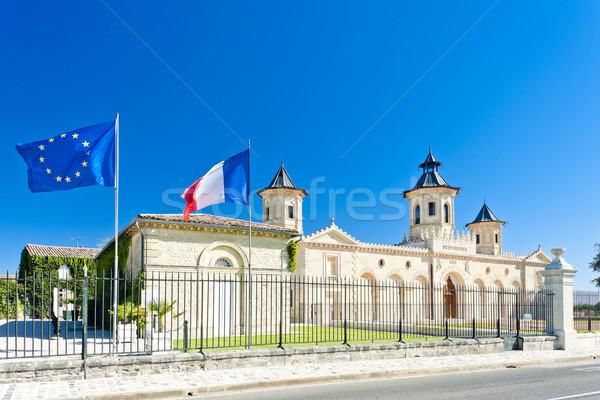 Chateau Cos D'Estournel, Bordeaux Region, France Stock photo © phbcz