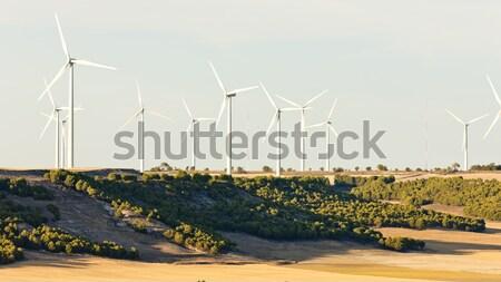 Szélturbinák Spanyolország ipar energia erő növény Stock fotó © phbcz