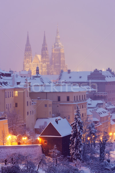 Hradcany in winter, Prague, Czech Republic Stock photo © phbcz