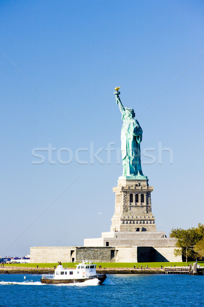 Liberty Island and Statue of Liberty, New York, USA Stock photo © phbcz
