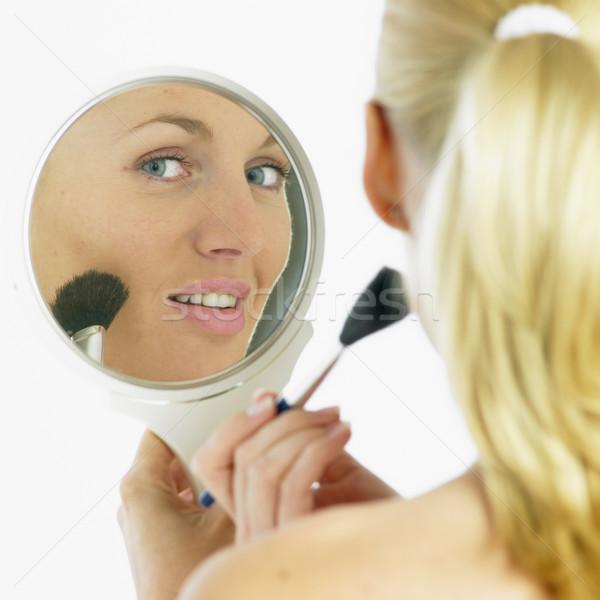 Uzupełnić kobieta twarz piękna twarze młodych Zdjęcia stock © phbcz