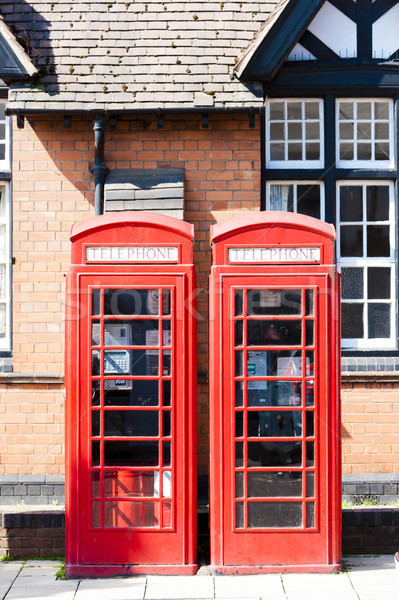 telephone booths, Stratford-upon-Avon, Warwickshire, England Stock photo © phbcz