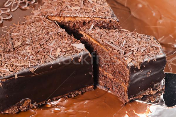 still life of chocolate cake Stock photo © phbcz