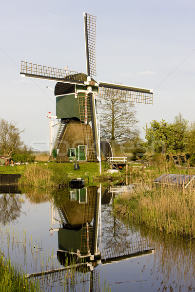 windmill, Tienhoven, Netherlands Stock photo © phbcz