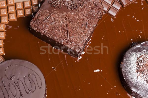 Stock fotó: Csendélet · csokoládé · torta · torták · étel · születésnap