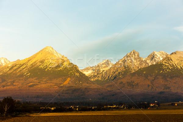 Yüksek Slovakya manzara Avrupa panoramik sessizlik Stok fotoğraf © phbcz