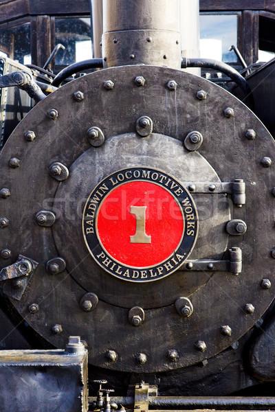 Detail stoomlocomotief Colorado spoorweg museum USA Stockfoto © phbcz