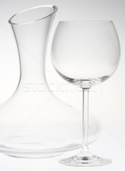 wine glass with carafe Stock photo © phbcz