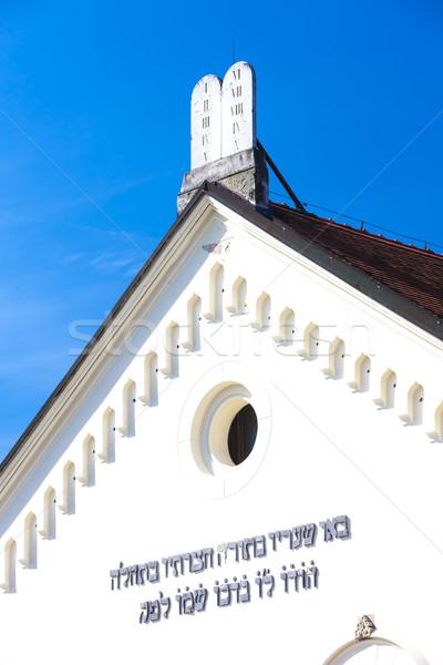 Synagoge Tsjechische Republiek kerk architectuur Europa geschiedenis Stockfoto © phbcz