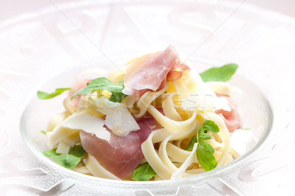 タリアテーレ プロシュート チーズ プレート 食事 栄養 ストックフォト © phbcz