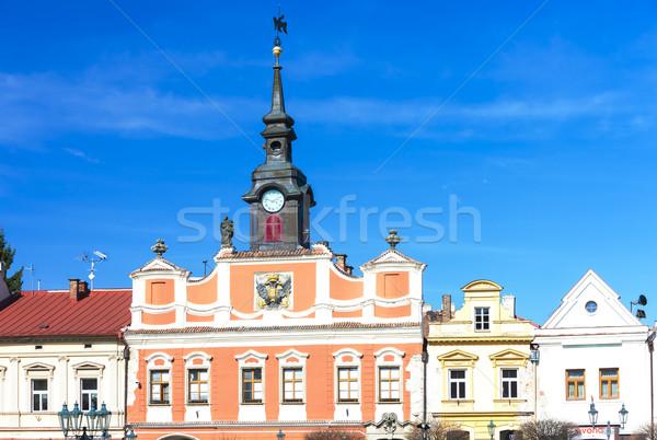 Tér Csehország épület építészet Európa város Stock fotó © phbcz