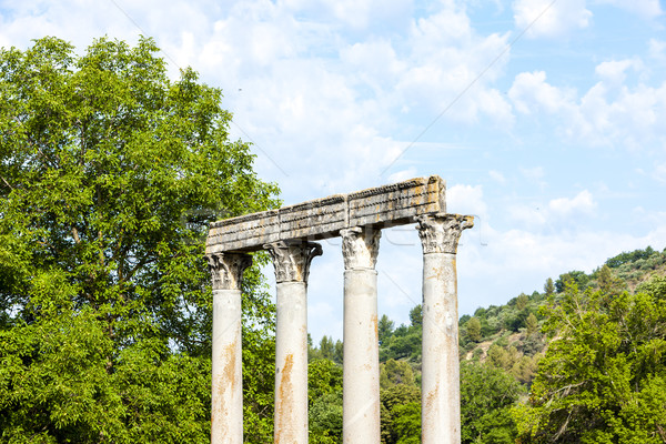 close up of Roman Temple, Riez, Provence-Alpes-Cote d''Azur, Fra Stock photo © phbcz